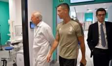 فيديو: رونالدو يلتقي بزملائه والمدرب أليغري