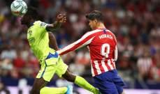 اتلتيكو مدريد يحرز 3 نقاط ويخسر لاعبين في المباراة الافتتاحية من الليغا