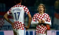 كرواتيا تقدم الدعم الكامل لنجمها مودريتش