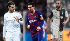 ميسي ونجوم آخرون: تعرف على ابرز اللاعبين الذين تنتهي عقودهم عام 2021