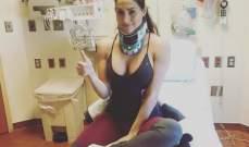 نيكي بيلا تتعافى بعد الجراحة