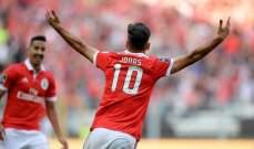 بنفيكا يجدد عقد مهاجمه البرازيلي المخضرم