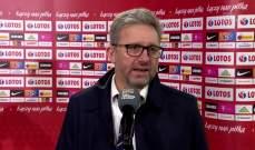 مدرب بولندا: افتقرنا إلى التمريرة الحاسمة في اللحظة الأخيرة