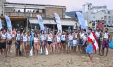 مهرجان لبنان الرياضي المائي : سباق للحسكات:الرجال لغصن والسيدات لفرجان