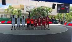 """المسابقة الآسيوية في ال3x3  سيدات """"بيبلوس بايونيرز"""" الى ربع النهائي"""