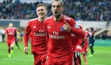 كأس المانيا: هامبورغ يعبر الى نصف النهائي بتفوقه امام بادربورن بثنائية