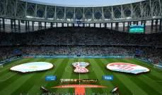إنطلاق الشوط الثاني من مباراة الأرجنتين وكرواتيا