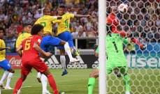 ابرز احصاءات مباراة بلجيكا والبرازيل
