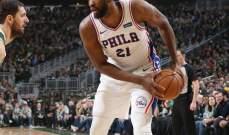 NBA: فيلادلفيا ينضم الى الاندية المتأهلة الى نهائيات المجموعة الشرقية