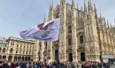 فيديو: جماهير فرانكفورت في ساحة الدوومو في ميلانو