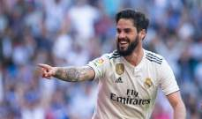 ايسكو يقرر الاستمرار مع ريال مدريد