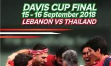 لبنان يواجه تايلاندا السبت والأحد في بانكوك في كأس ديفيس