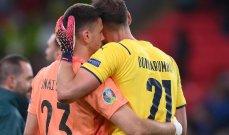 تعادل في اداء دوناروما وسيمون خلال مواجهة اسبانيا وايطاليا في يورو 2020
