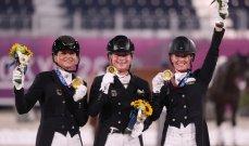 ألمانيا تحصد ذهبية الترويض للفرق ضمن منافسات الفروسية بالأولمبياد