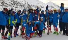 بعثة اتحاد التزلج الى أندورا للمشاركة في بطولة التزلج الألبي