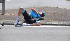 لويس ليون سانشيز ينشر صورة ليده بعد اسبوعين من سقوطه في سباق فرنسا