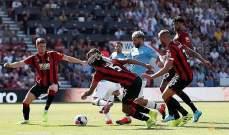 السيتي يحرم من ركلة جزاء امام بورنموث وهدف صحيح لبرشلونة