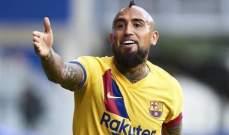 تطور تهديفي ايجابي لـ فيدال مع برشلونة