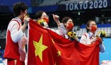 الصين صامدة في صدارة الترتيب وميداليتين للعرب في اليوم 12