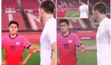 لاعب كوريا يرفض مصافحة كريس وود