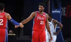 NBA: سيكسرز يفوز على جاز وجويل امبيد يسجل 40 نقطة