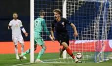 كرواتيا تخلط الاوراق مجدداً بفوز قاتل امام اسبانيا وفوز بلجيكا