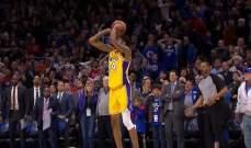 NBA: لونزو يقود الليكرز لفوز جديد وسقوط فينيكس امام واشنطن