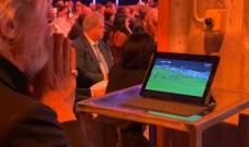 رئيس سامبدوريا يتابع مباراة فريقه خلال حفل جوائز الدوري الايطالي