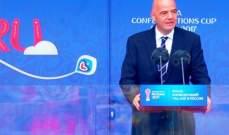ماذا قال انفانتينو و الرئيس بوتين قبل افتتاح كأس القارات ؟