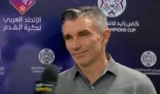 مدرب الرجاء : حزين للخروج من كأس زايد رغم الفوز على النجم الساحلي