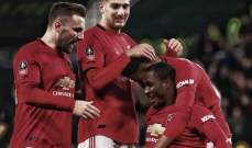 كأس الاتحاد الانكليزي: اليونايتد يعبر للدور الربع نهائي بثلاثية امام ديربي