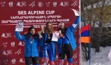 بطولة الدول الصغرى في التزلج: آنسات لبنان سيطرن على التعرج القصير: ميدالية ذهبية وفضية وبرونزية