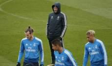 ريال مدريد يُنهي استعداداته لمواجهة ايبار في طقسٍ ممطرٍ
