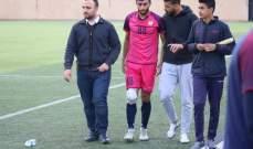 العهد يطمئن على حالة لاعبه محمد قدوح