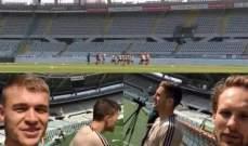 لاعبو أياكس خاضوا تدريباتهم على ملعب فريق تورينو