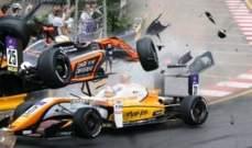 حادث مروع في سباقات السيارات !