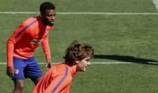 ليمار يعود الى تدريبات اتلتيكو مدريد
