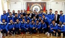رئيس جمهورية قرغيزستان يكرم مدرب ولاعبي المنتخب