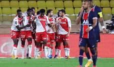 إحصاءات من مباراة موناكو - باريس سان جيرمان