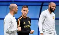 مدرب بلجيكا: هازارد سيعود قبل نهاية الليغا واللقب لن يحسم مبكراً
