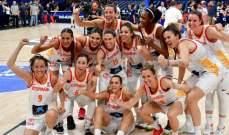 سيدات اسبانيا بطلات اوروبا لكرة السلة