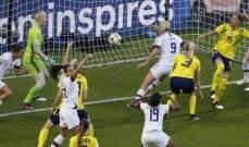 مونديال السيدات: فوز مستحق لاميركا على السويد وانتصار باهت لتشيلي على تايلند