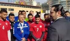 الحريري للاعبي المنتخب: فخورون بكم وكل لبنان خلفكم