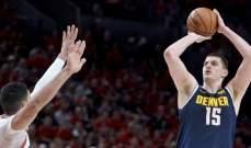 NBA: فوز ناغتس على بليزرز ورابتورز على فيلادلفيا