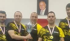 بطولة لبنان للدرجة الثانية في كرة الطاولة اللقب للفادي الأقدس  والشباب حارة صيدا وصيفه والجمهور في المركز الثالث