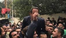 بدر يشارك في إعتصام نادي الأنصار