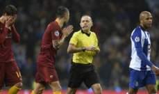 مانولاس يصبّ غضبه على التحكيم في مباراة بورتو وروما