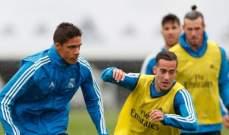 تدريبات ريال مدريد تشهد غياب رباعي الفريق