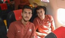 لاعبو روما في الطريق إلى مدريد