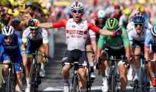 كاليب ايوان يفوز بثاني مرحلة له في سباق فرنسا للدراجات